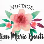 Vintage flower logo design